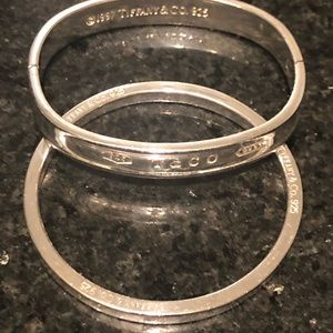 Two Authentic SS Tiffany Bracelets.